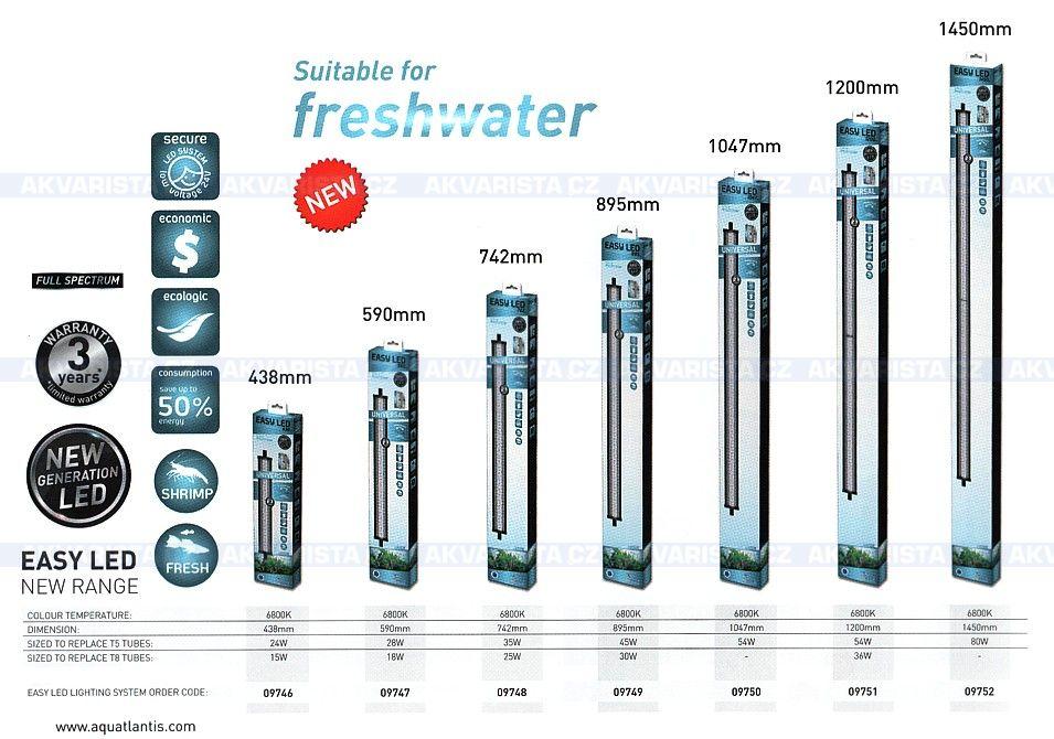 aquatlantis easy led universal freshwater 1200 mm. Black Bedroom Furniture Sets. Home Design Ideas