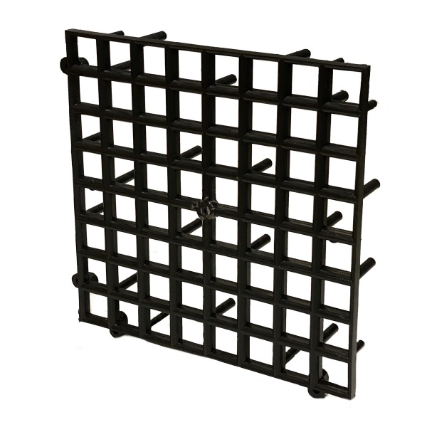 Plastová podkladová mřížka vysoká černá 26x26 cm