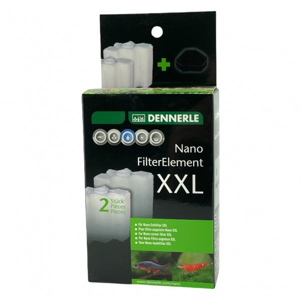 Dennerle Nano Clean Eckfilter XXL, náhradní filtrační patrona (set 2 ks)