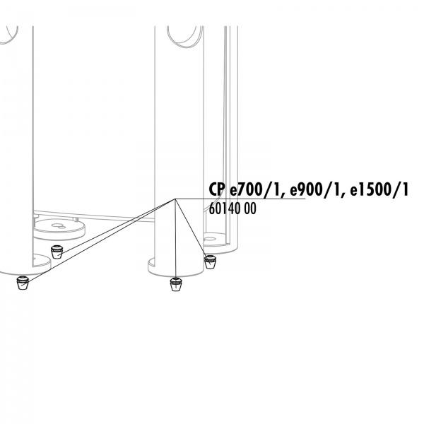 JBL Náhradní gumové nožičky pro filtry CristalProfi e4/7/9/1500/1,2