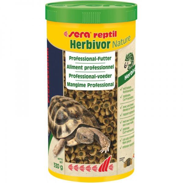 Sera reptil Professional Herbivor NATURE (pro býložravé) 1000ml