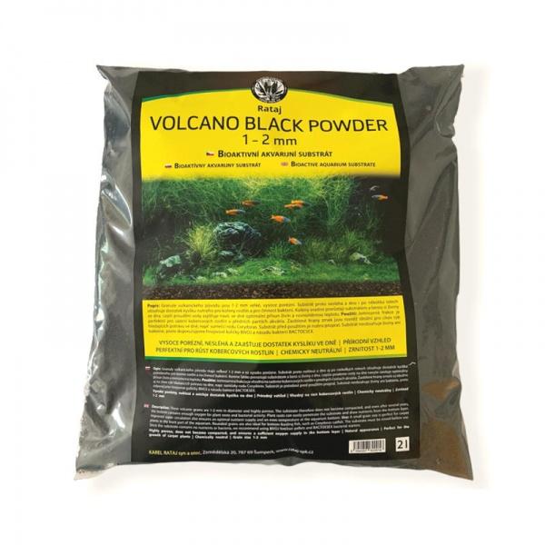 Rataj Volcano black POWDER akvarijní substrát 2l