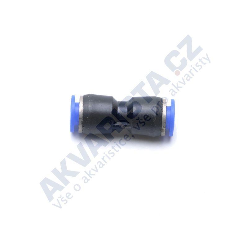 Plastová modročerná rychlospojka pro hadičku 4/6 mm přímá