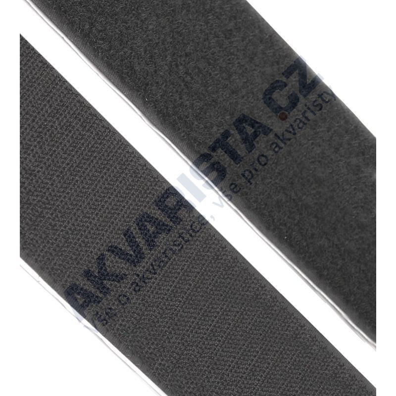 Suchý zip samolepící černý 5x20 cm