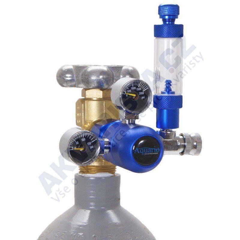 Aquario Redukční ventil CO2 BLUE s jehlovým ventilem
