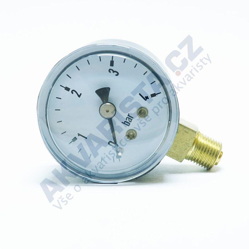 Manometr 0-4 bar 40 mm průměr spodní závit 1/8