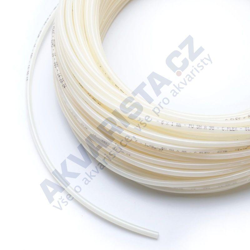 Vysokotlaká hadička 4/6 mm pro RO nebo na CO2 (metráž) mléčná
