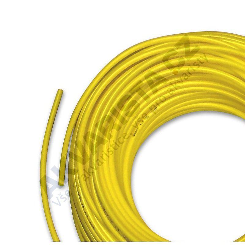 Vysokotlaká hadička 4/6 mm pro RO nebo na CO2 (metráž) žlutá