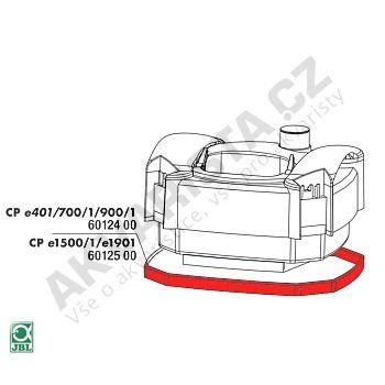JBL Náhradní těsnění pod hlavu filtru CPe 400, 700, 900, 401, 701, 901, 402, 702, 902