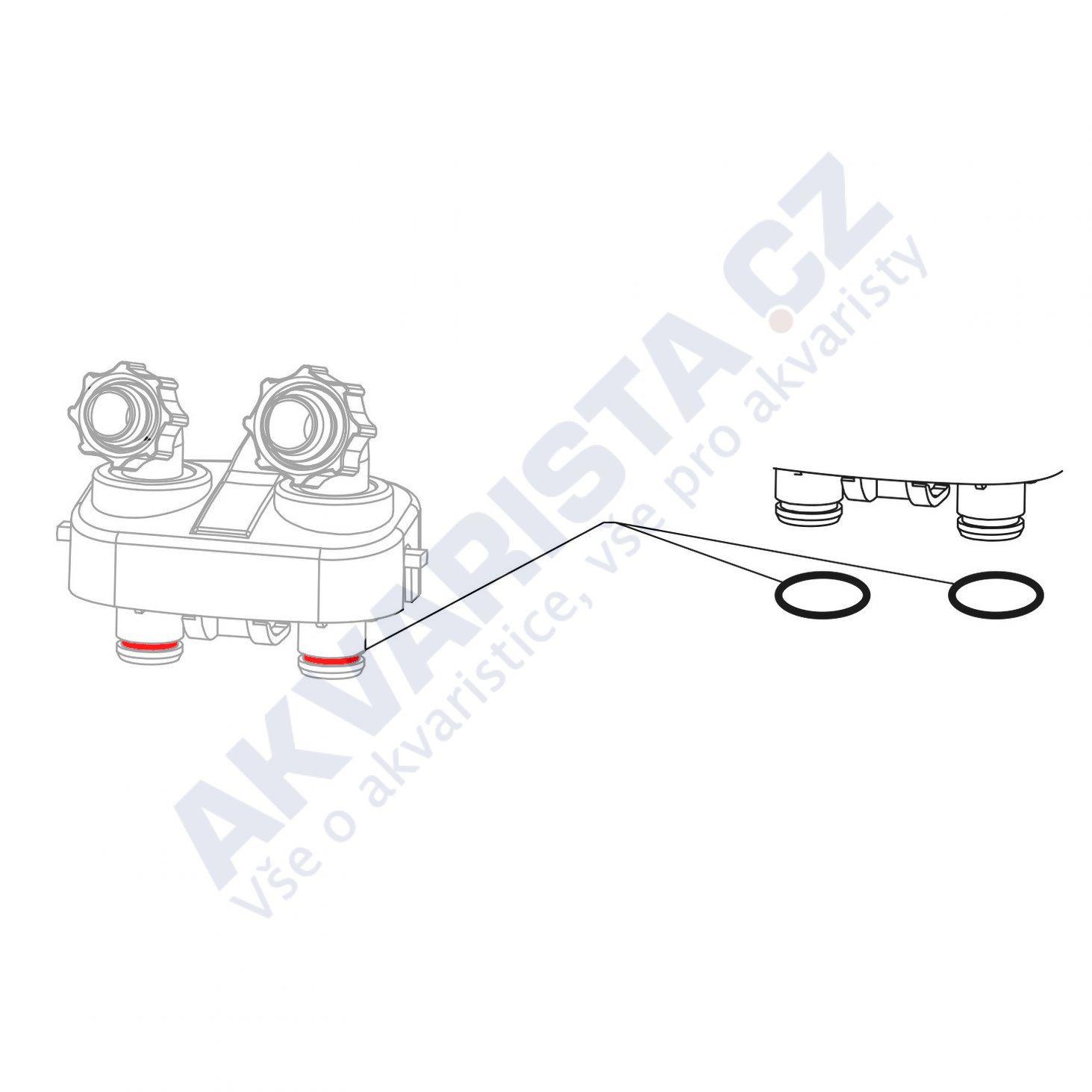 JBL Náhradní těsnění připojovacího bloku/adapteru CristalProfi e1501, e1502