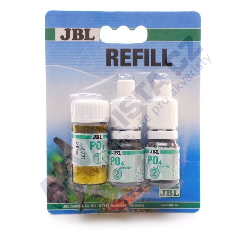 JBL Test-Set PO4 sensitive (přesný test fosforečnanů), náhradní náplň