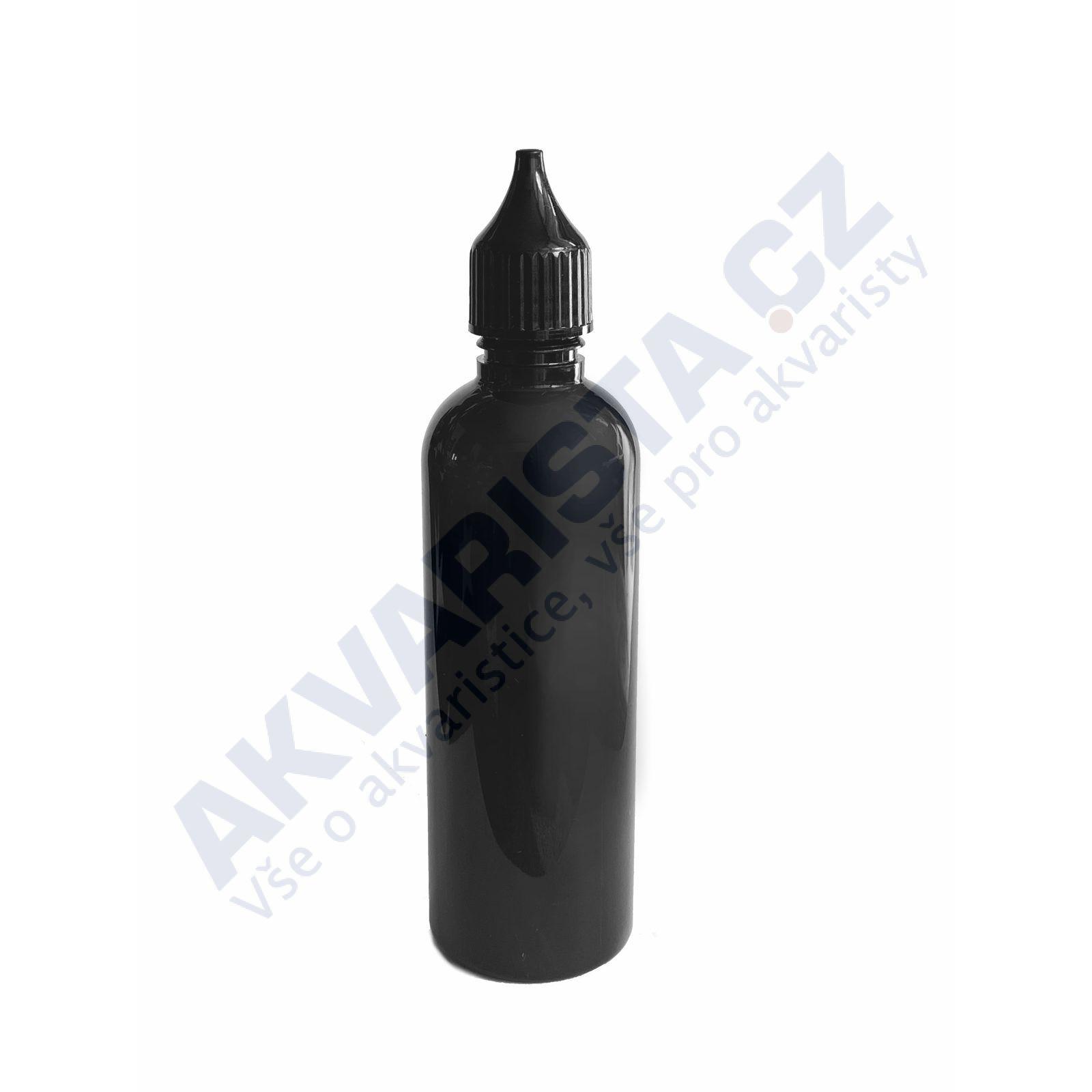 Plastová lahvička s kapátkem 100 ml - černá + černé víčko