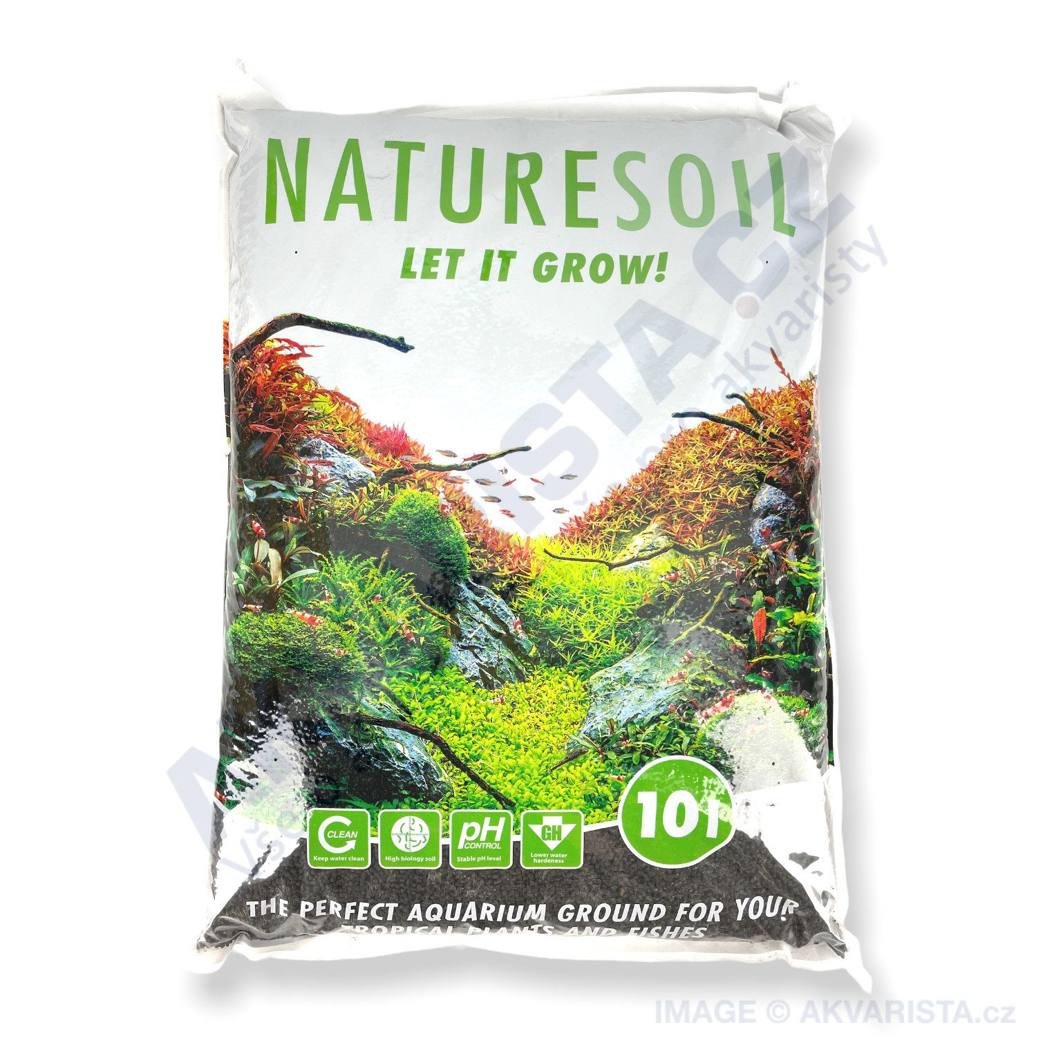Nature Soil černý normal (4-5 mm) 10 litrů
