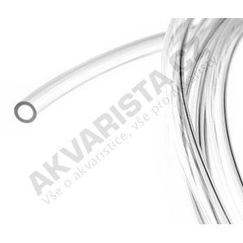 Vysokotlaká tvrdá hadička 4/6 mm pro vzduch nebo CO2 (metráž) čirá