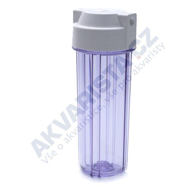 Korpus filtru 10 průhledný s 1/4 šroubením a dvojitým těsněním