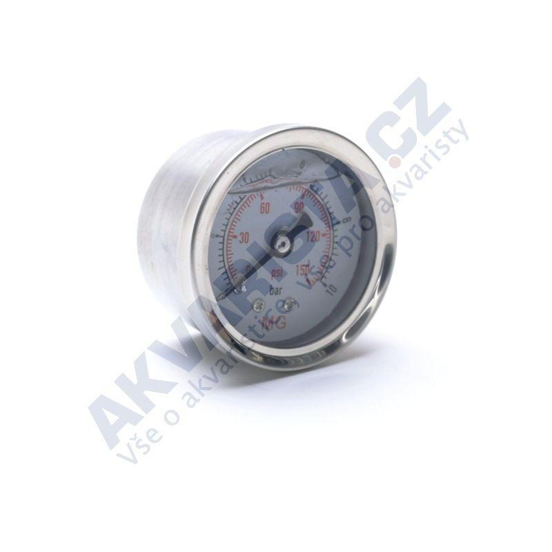 Manometr glycerinový pro reverzní osmozy, 42 mm, zadní vývod