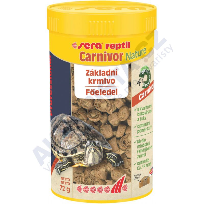 Sera reptil Professional Carnivor NATURE (pro masožravé) 1000ml