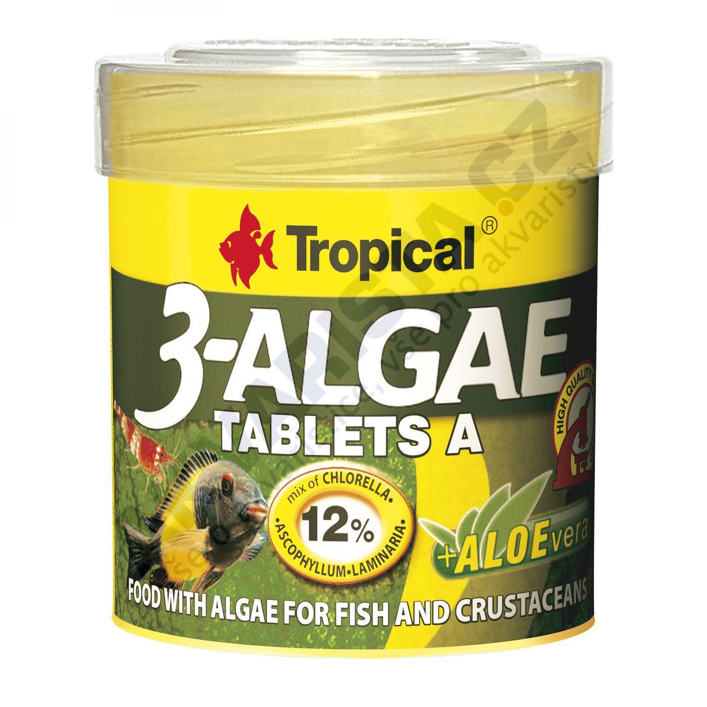 Tropical 3-algae tablets A (samolepící tablety) 50 ml