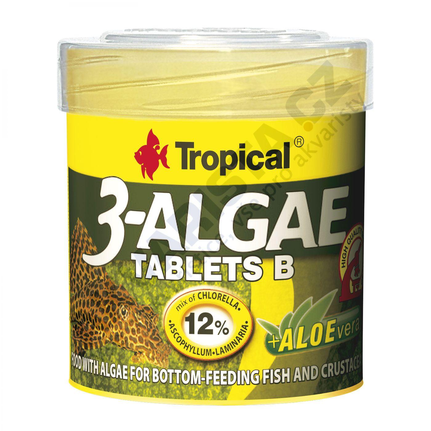 Tropical 3-algae tablets B (potápějící se tablety) 50 ml