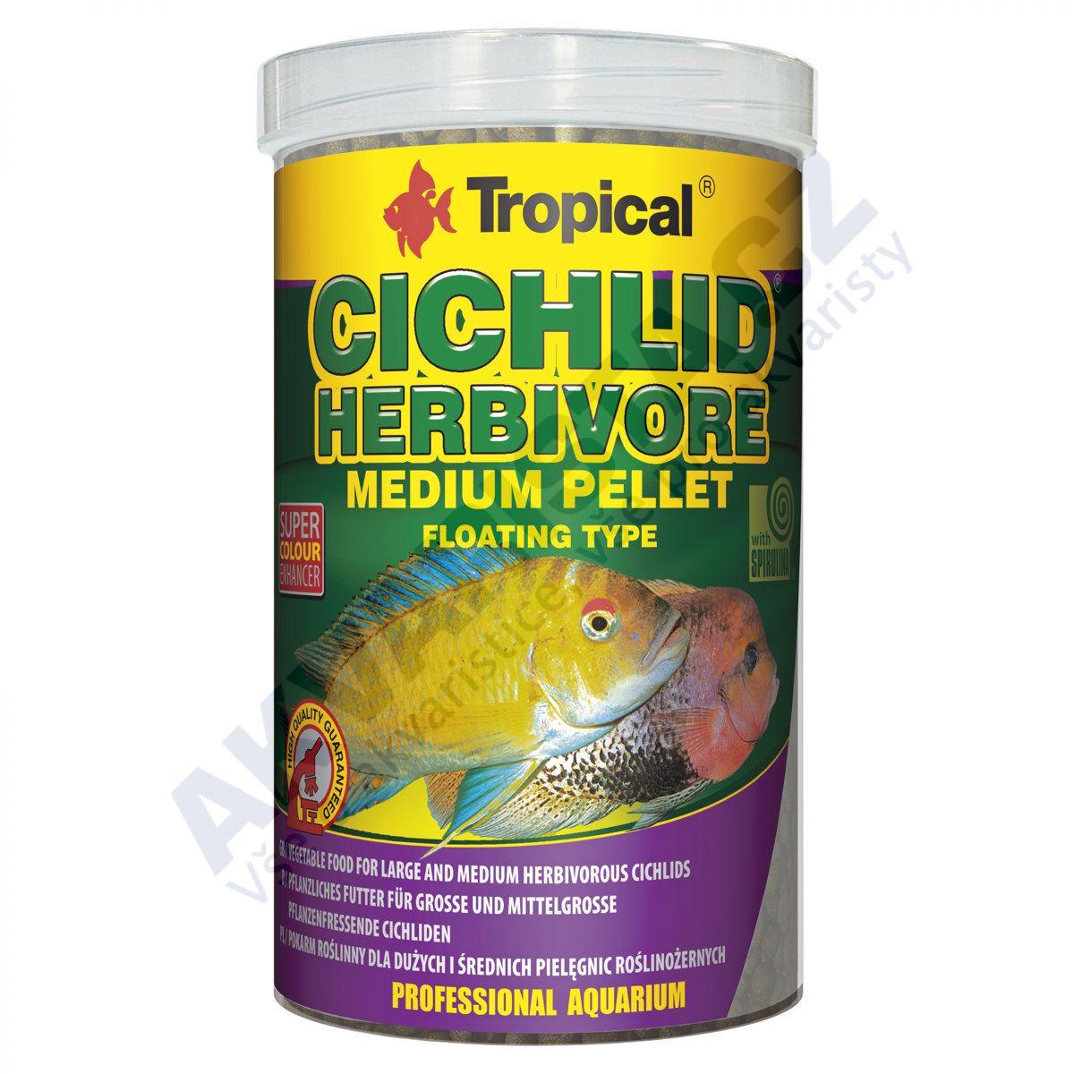 Tropical Cichlid Herbivore M pellet 1000 ml